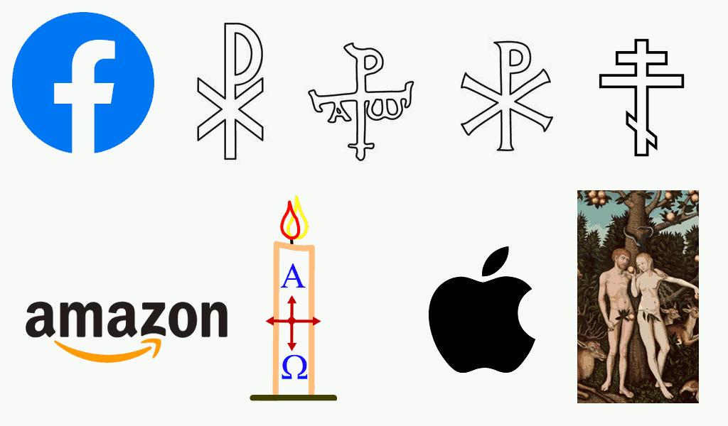 facebook, Amazon und Apple: Logos als Zitate religiöser Symbole